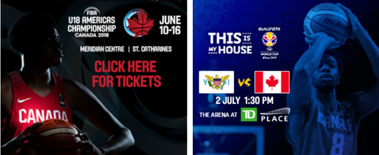 online ads for canada basketball