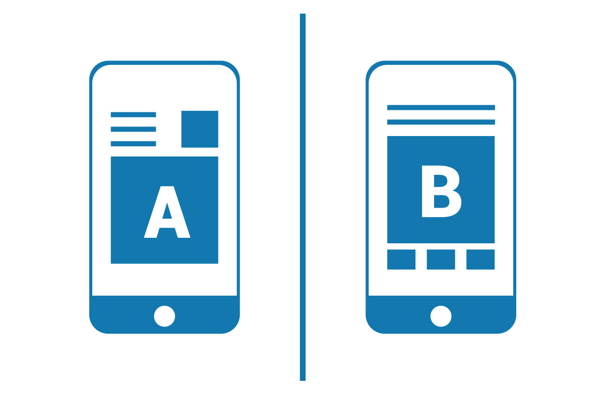 Depiction of an A/B test